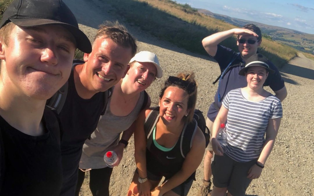The Rakem Group team members take on the Yorkshire 3 Peaks in charity challenge